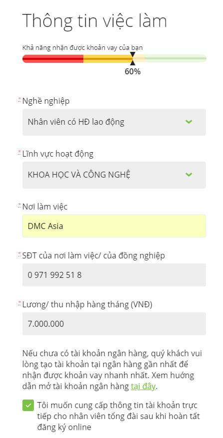 Hướng dẫn vay tiền Doctor Đồng