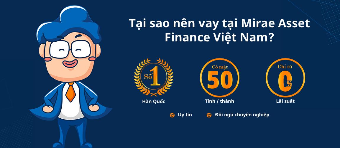 Ưu điểm của vay tiền Mirae Asset